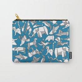 origami animal ditsy blue Carry-All Pouch