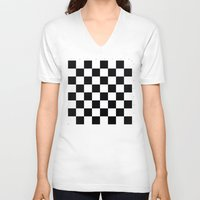 chess V-neck T-shirts featuring Chess Game by erkki