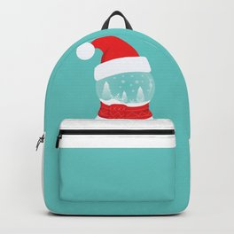 Snow Man versus Snow Ball Merry Christmas Backpack