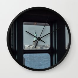 Statue of Liberty from the ferry Wall Clock