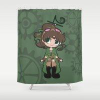 sailor jupiter Shower Curtains featuring Steampunk Sailor Jupiter by CaptainLaserBeam