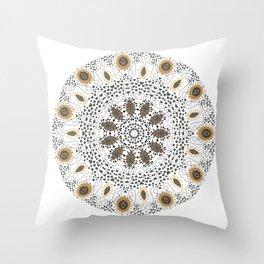 Fall Mandala Throw Pillow