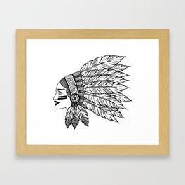 Native Warrior Framed Art Print
