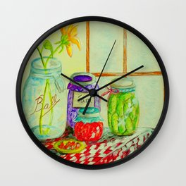 Kitchen Light Dancing Wall Clock