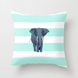The Green Elephant Throw Pillow