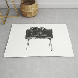 Claymore 'Front Toward Enemy' Rug