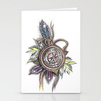 compass Stationery Cards featuring Compass by byfgal