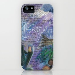 Issaquah Washington...Mixed Media Art by Seattle Artist Mary Klump iPhone Case