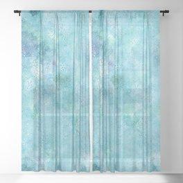 Blue Galaxy Sheer Curtain