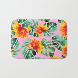 Tropical Monstera Bloom Bath Mat