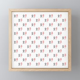 Chinese ideogram : woman Framed Mini Art Print