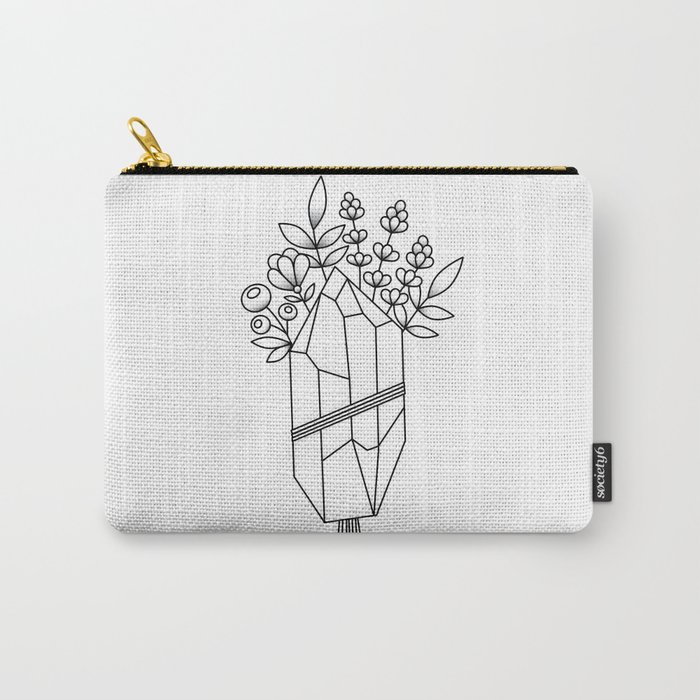 Crystal Flower Bouquet Carry-All Pouch by lynettecarson | Society6