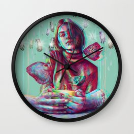 In Your Hands Wall Clock