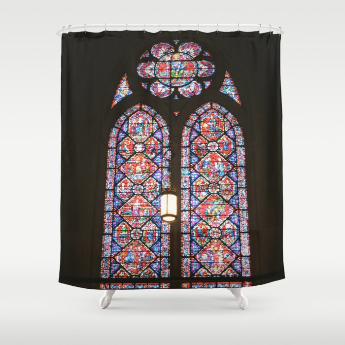 Stained Gl Window Shower Curtain