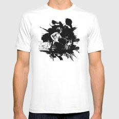 Zack de la Rocha Mens Fitted Tee White LARGE