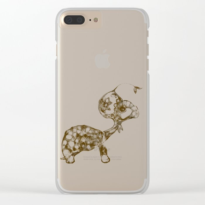 cool sketch 198 Clear iPhone Case