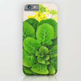 Collard Greens and their Blossom iPhone Case