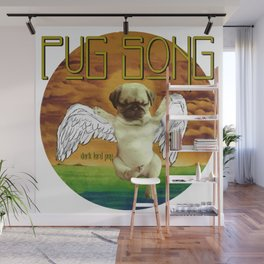 Pug Song Wall Mural