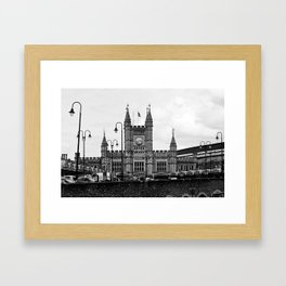 Temple Meads Train Station B&W Framed Art Print