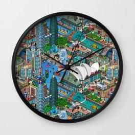 Pixelland Wall Clock