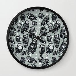 Flock of Owls Wall Clock