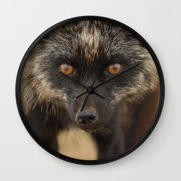 Amber Eyes Wall Clock