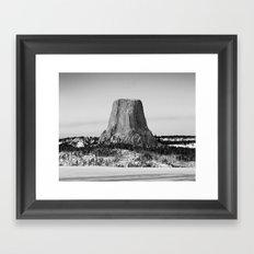 Devil's Tower Wyoming Framed Art Print