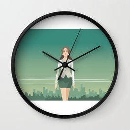 Independent Business Woman Wall Clock