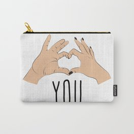 I love you fingers sign Carry-All Pouch