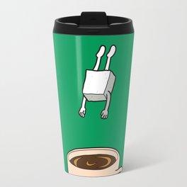 Sugar Jumps Into Coffee Travel Mug