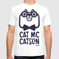 Cat Mc Catson SMALL White Mens Fitted Tee