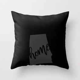 Alabama Home State Outline Design, Southern Gift, Homegrown design Throw Pillow