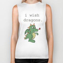 I wish dragons Biker Tank