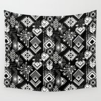 lunar Wall Tapestries featuring Lunar Gems by michiko_design