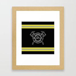 Firefighter Home Framed Art Print