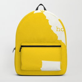 California is Home - Yellow & White Backpack