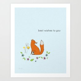 Best wishes to you Art Print