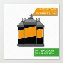 Weapons of mass expression Canvas Print