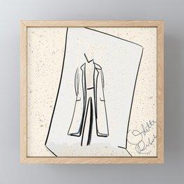 It's a mood 4 | mini fashion print | line art fashion girl Framed Mini Art Print