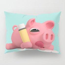 Rosa the Pig Drawing Pillow Sham