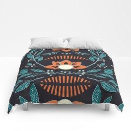 Dark flora 001 Comforters