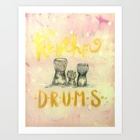 drums Art Prints featuring Drums by Art Show For A Cause Gallery + Products