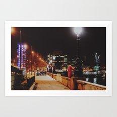 Night Stroll, London.  Art Print