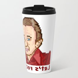 !kcor s'teL (Man From Another Place Pixel Art) Travel Mug