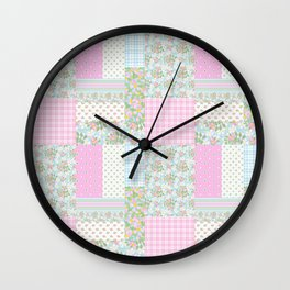 Dogrose Faux Patchwork Wall Clock