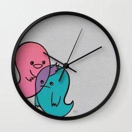 Pink & Blue Wall Clock