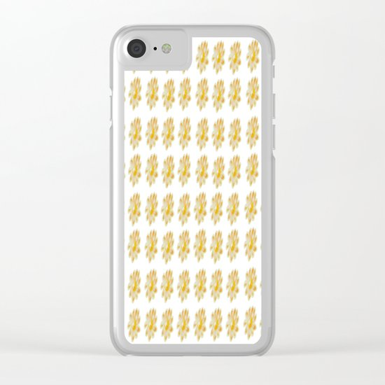 Golden Daisy Clear iPhone Case
