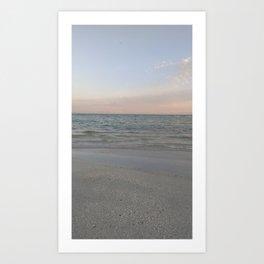 Peaceful beach Art Print