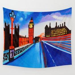London At Night Wall Tapestry