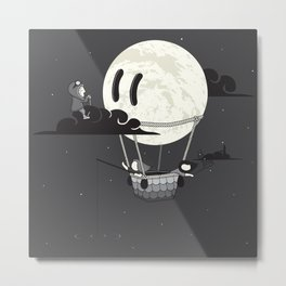 You Should See The Moon In Flight Metal Print